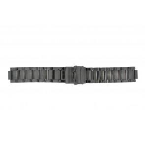 Q&Q bracelet de montre QQ13ST-AC-ST Métal Gris anthracite 13mm