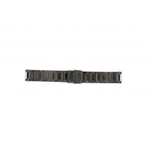 Bracelet de montre QQ24ZWR- Métal Gris anthracite 24mm