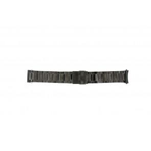 Bracelet de montre QQ24ZWRHD Métal Gris anthracite 24mm