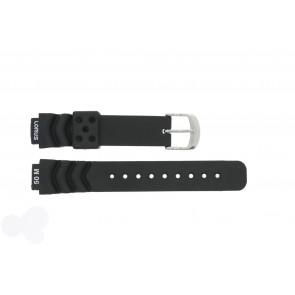 Lorus bracelet de montre R2365AX-9 Caoutchouc Noir 14mm