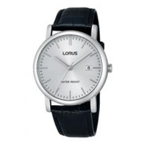 Lorus bracelet de montre RG839CX9 / VJ32 X246 / RHG008X Cuir Noir 20mm + coutures noires