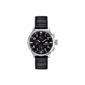 Bracelet de montre Tommy Hilfiger TH-102-1-14-0878 Cuir Noir 20mm