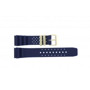 Citizen bracelet de montre TZE-S285.22DBL / Citizen Caoutchouc Bleu 22mm