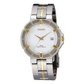 Pulsar bracelet de montre V732-0330  Acier inoxydable Bicolore 8mm