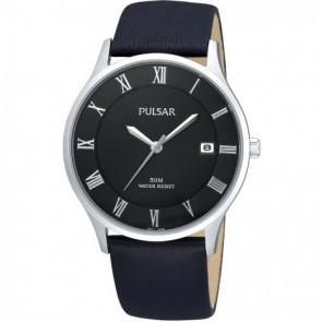 Bracelet de montre Pulsar VX42-X355 Cuir Noir 20mm