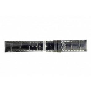 Noir cuir croco wp-61324.36mm