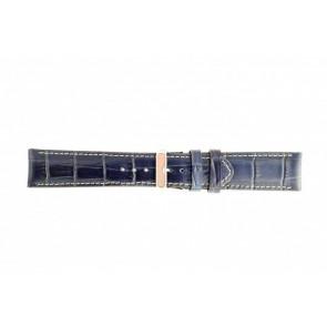 Bleu foncé cuir croco 30mm 61324