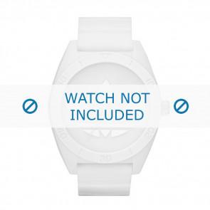Adidas bracelet de montre ADH2711 Caoutchouc Blanc 24mm