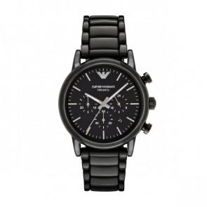 Bracelet de montre Armani AR1507 Céramique Noir