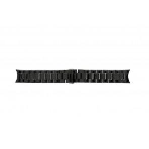 Armani bracelet de montre AR-1400 Céramique Noir 22mm
