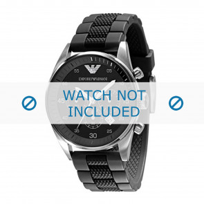 Armani bracelet de montre AR5866 Silicone Noir 23mm