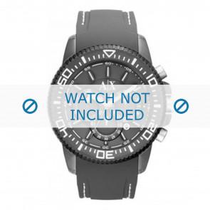 Armani bracelet de montre AX1202 Caoutchouc Gris + coutures blanches