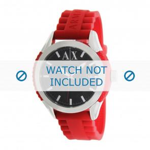 Armani bracelet de montre AX1227 Plastique Rouge 22mm