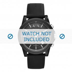 Armani bracelet de montre AX1326 Silicone Noir