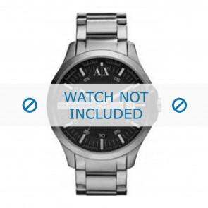 Armani bracelet de montre AX2103 Métal Gris anthracite