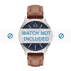 Armani bracelet de montre AX2133 Cuir Brun + coutures brunes