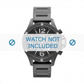 Armani bracelet de montre AX-1503 Métal Noir 22mm
