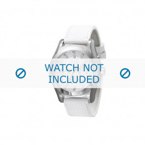 Armani bracelet de montre AX-2071 Cuir Blanc 22mm