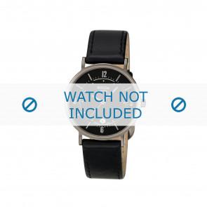 Boccia bracelet de montre 3154 Cuir Noir 16mm