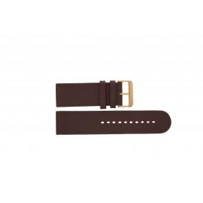 Prisma bracelet de montre DBR27 Cuir Brun 27mm + coutures brunes