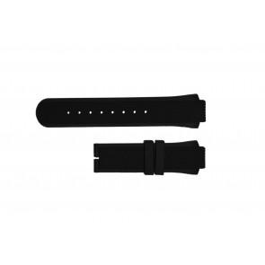 Breil bracelet de montre TW0450 / TW0455 Caoutchouc Noir 16mm