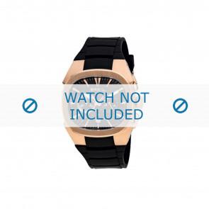 Breil bracelet de montre BW0309 Caoutchouc Noir
