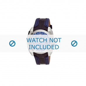 Breil bracelet de montre BW0322 Cuir Bleu + coutures  bleues