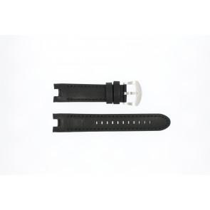 Buddha to Buddha bracelet de montre 46mm / BTB.M.D.3H.02 Cuir Noir 21mm + coutures noires