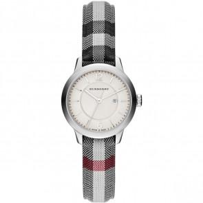 Bracelet de montre Burberry BU10103 Cuir/Textile Gris