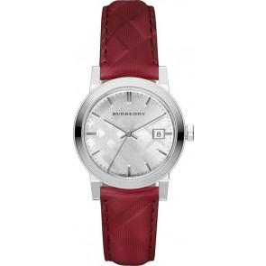 Bracelet de montre Burberry bu9152 Cuir Rouge