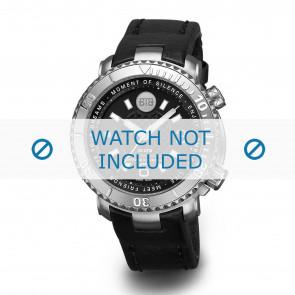 Buddha to Buddha bracelet de montre 39mm / BTB.F.D.3H.04 Cuir Noir + coutures noires