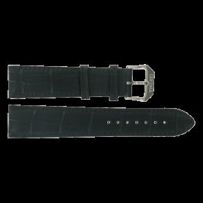 Certina bracelet de montre C600015907 21/18MM Cuir Noir 21mm + coutures noires