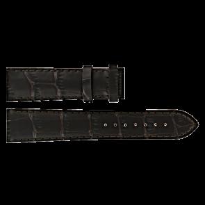 Certina bracelet de montre C610016931 Cuir Brun foncé 20mm + coutures brunes