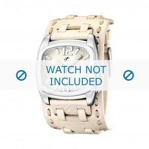 Calypso bracelet de montre K5224/1 Cuir Blanc 26mm