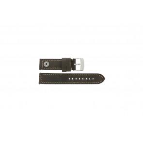 Camel bracelet de montre Active Cuir Brun 22mm + coutures brunes