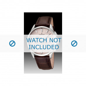 Candino bracelet de montre C4517-1 Cuir Brun + coutures brunes