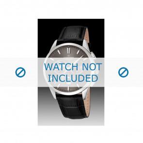 Candino bracelet de montre C4517-2 Cuir Noir + coutures noires