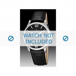 Candino bracelet de montre C4494 Cuir Noir + coutures noires