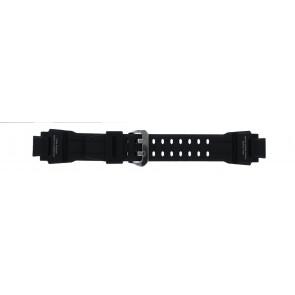Casio bracelet de montre GA-1000-1AV Silicone Noir 22mm