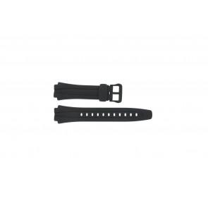 Casio bracelet de montre AQ-160W-1BV Silicone Noir 17mm