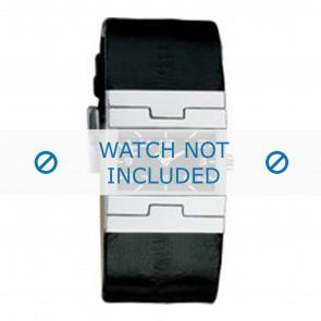 Dolce & Gabbana bracelet de montre 3719251529 / F360002056 Cuir Noir