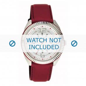 Dolce & Gabbana bracelet de montre DW0032 Cuir Rouge 20mm + coutures  rouges