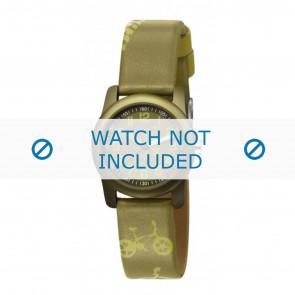 Esprit bracelet de montre ES000FA4-40GR / 000FA4044 Cuir Vert