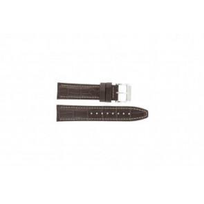Festina bracelet de montre F16081/8 Cuir Brun 22mm + coutures blanches