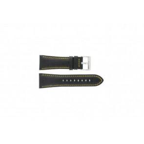 Festina bracelet de montre F16235/7 Cuir Noir 28mm + coutures jaunes