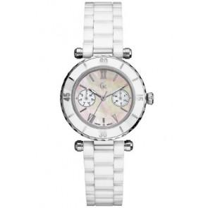 Guess bracelet de montre GC35003L Céramique Blanc