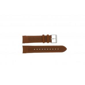Hugo Boss bracelet de montre HB-188-1-14-2672 / HB1513118 Cuir Cognac 22mm + coutures brunes