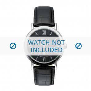 Hugo Boss bracelet de montre HB-24-1-14-2034 / HB1512093 / HB1512092 Cuir Noir 20mm + coutures noires