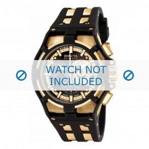 Invicta bracelet de montre 0639.01 Plastique Noir
