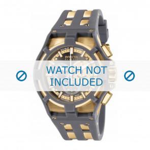 Invicta bracelet de montre 0637-01 Plastique Gris